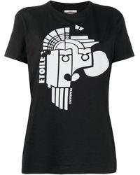 Étoile Isabel Marant プリント Tシャツ - ブラック