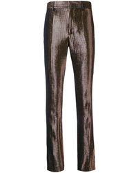 Haider Ackermann Striped Trousers - Zwart