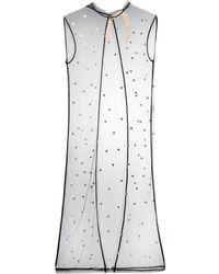 N°21 ビジューメッシュドレス - ブラック