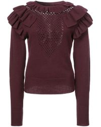 Jill Stuart Ruffled Details Sweater - Pink
