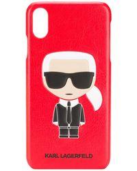 Karl Lagerfeld Embossed Ikonik Karl Iphone Xs Max Case - Red