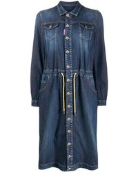 DSquared² Denim Shirt Dress - Blue