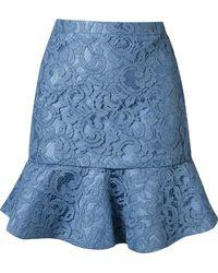 Martha Medeiros - Ruffled Hem 'marescot' Lace Skirt - Lyst
