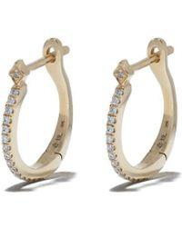 Loree Rodkin 18kt Gold Diamond Britanny huggies - Metallic
