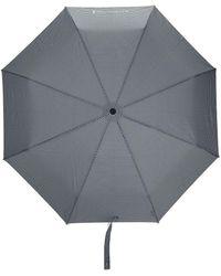 Mackintosh Parapluie télescopique à carreaux vichy - Noir