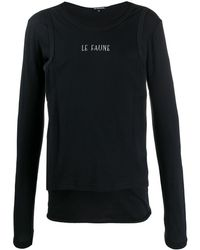 Ann Demeulemeester ロゴ Tシャツ - ブラック