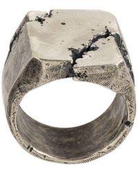 Tobias Wistisen - Fractured Chevalière Ring - Lyst