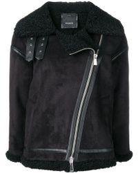 Pinko - Shearling Biker Jacket - Lyst
