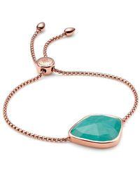 Monica Vinader Siren Nugget Cocktail Chain Amazonite Bracelet - Blue