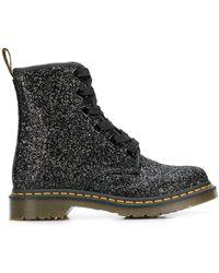 Dr. Martens 1460 Farrah Glitter Boots - Black