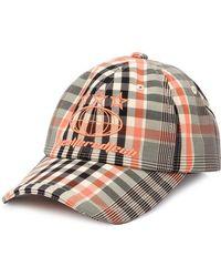 Juun.J Checkered Hat - Orange