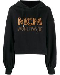 MCM ロゴ クロップド パーカー - ブラック