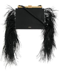 N°21 Embellished Satchel Bag - Black