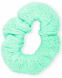 Hunza G Fine-knit Scrucnhie - Green