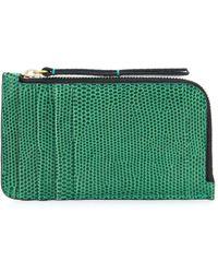 Isabel Marant Zipped Leather Cardholder - Green