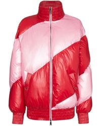 House of Holland Striped Oversized Puffer Jacket - Pink