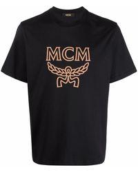 MCM ロゴ Tシャツ - ブラック