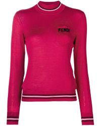 Fendi - Logo Turtle-neck Sweater - Lyst