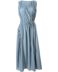 Goen.J Multi-directional Ruched Shift Dress - Blue