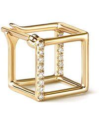 Shihara Orecchino Diamond Square Earring 7 (01) - Metallizzato