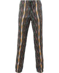 Saint Laurent - Ikat Pattern Casual Trousers - Lyst