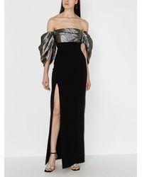 Solace London Luna オフショルダー ドレス - ブラック