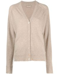 Zadig & Voltaire Fine-knit Cashmere Cardigan - Natural