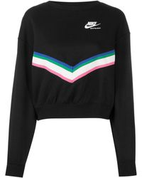 Nike Windrunner Fleece Retro Strip スウェットシャツ - ブラック