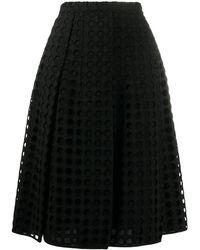 N°21 Aライン メッシュ スカート - ブラック