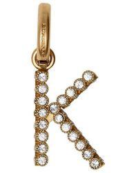 Burberry 'k ' Alfabet Amulet Met Kristallen - Metallic