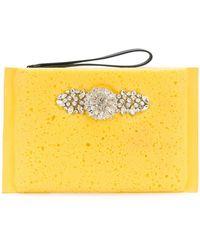 Christopher Kane - Rhinestone Embellished Sponge Clutch - Lyst