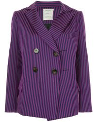 Maison Rabih Kayrouz - Striped Double Breasted Blazer - Lyst