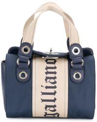 John Galliano - Logo Print Mini Bag - Lyst