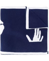 Off-White c/o Virgil Abloh Трикотажный Шарф С Логотипом - Синий