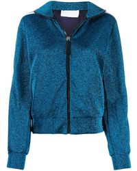 NO KA 'OI Glitter Detail Sports Jacket - Blue
