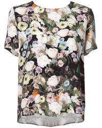 Adam Lippes - Floral Short-sleeve Top - Lyst