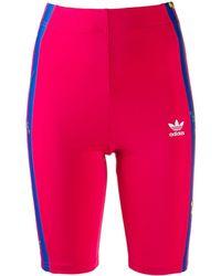 adidas フローラル ショートパンツ - ピンク