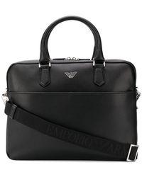 Emporio Armani - Logo Plaque Briefcase - Lyst