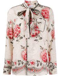 RED Valentino - フローラル パジャマスタイルシャツ - Lyst