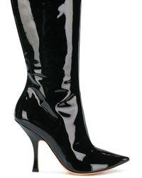 Y. Project エナメルレザー ブーツ - ブラック