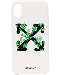 Off-White c/o Virgil Abloh Arrows Logo Iphone Xs Case - White