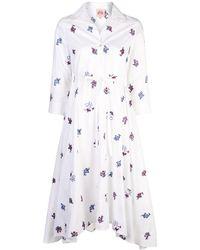 Le Sirenuse Hemdkleid mit Blumenmuster - Weiß