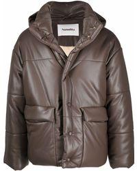 Nanushka Oversized Padded Jacket - Brown