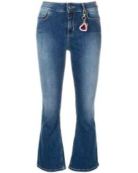 Twin Set Cropped Flared Jeans - Blue