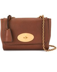 Mulberry Bolso Lily Natural Grain mediano - Marrón