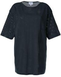 Lemaire パーフォレーテッド Tシャツ - ブルー