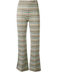 Stine Goya Melanie Striped Cropped Trousers - Multicolour