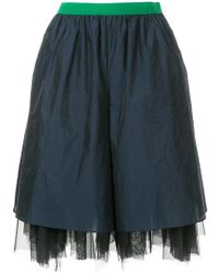 Kolor - Tulle Layer Shorts - Lyst