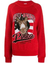 Pinko Джемпер Spirit Animal - Красный