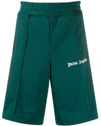 Palm Angels ロゴ トラックショーツ - グリーン